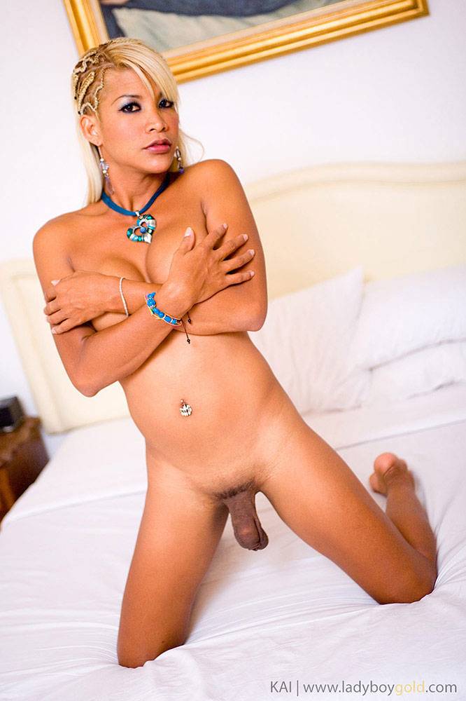 Ladyboy Kai Cock and Balls